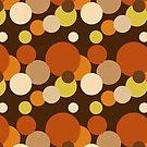 Big 70s polka dots brown by pASob-dESIGN