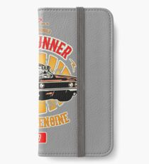 Plymouth Road Runner - American Muscle iPhone Flip-Case/Hülle/Skin