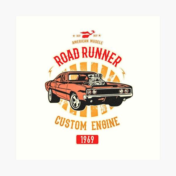 Plymouth Road Runner - American Muscle Art Print