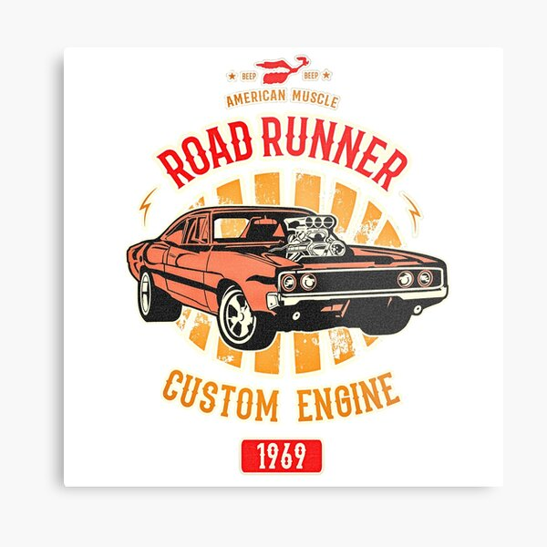 Plymouth Road Runner - American Muscle Metal Print