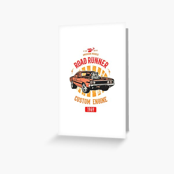 Plymouth Road Runner - American Muscle Greeting Card