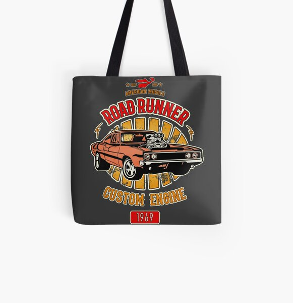 Plymouth Road Runner - American Muscle All Over Print Tote Bag