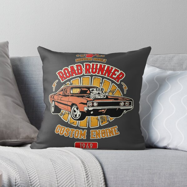 Plymouth Road Runner - American Muscle Throw Pillow
