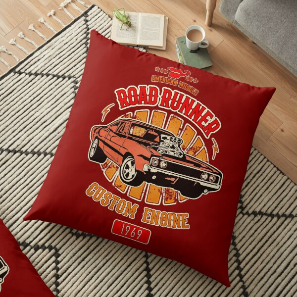 Plymouth Road Runner - American Muscle Floor Pillow
