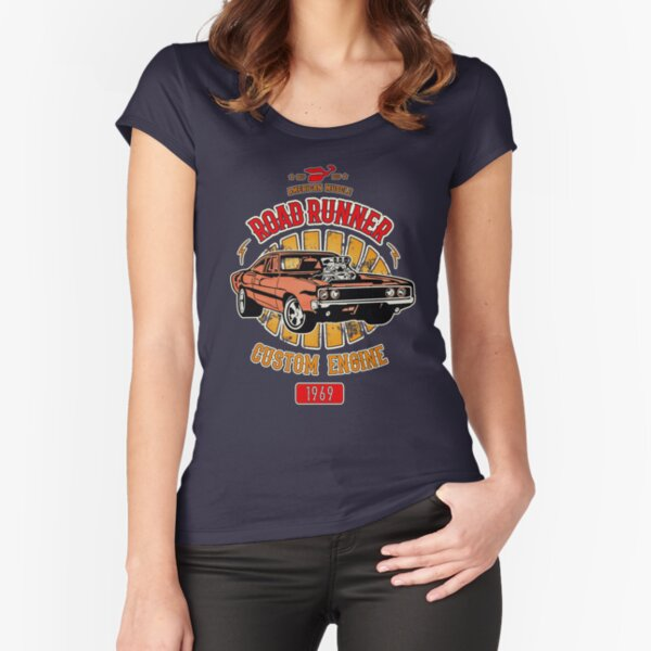 Plymouth Road Runner - American Muscle Fitted Scoop T-Shirt