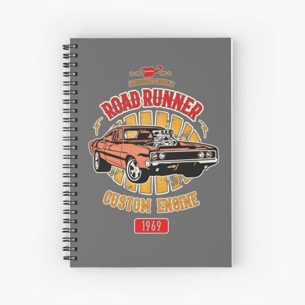 Plymouth Road Runner - American Muscle Spiral Notebook