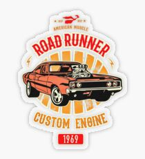 Plymouth Road Runner - American Muscle Transparenter Sticker
