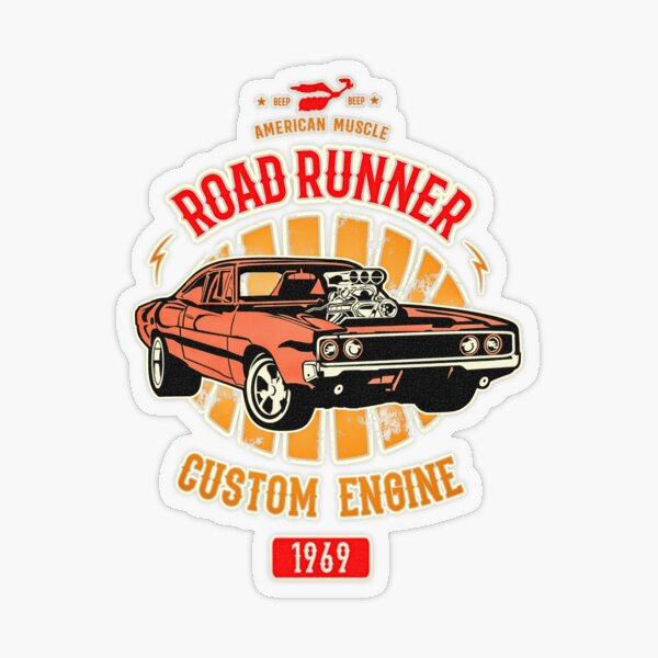 Plymouth Road Runner - American Muscle Transparent Sticker