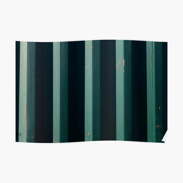Turquoise Shipping Container Panels Poster