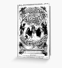 Varney the Vampire poster Greeting Card