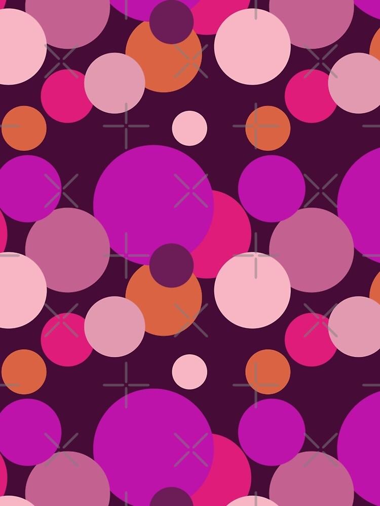Große 70er Jahre Polka Dots in lila von pASob-dESIGN