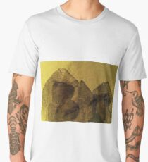 Cool, unique modern brown abstract painting art design Men's Premium T-Shirt