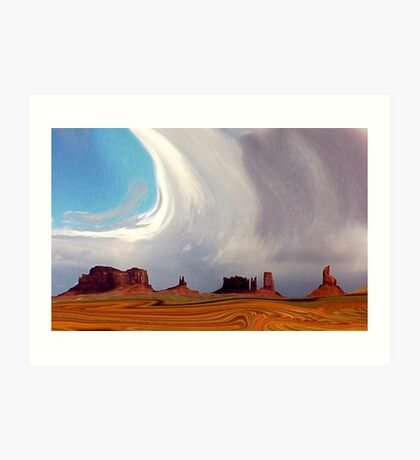 Swirling in Monument Valley Art Print