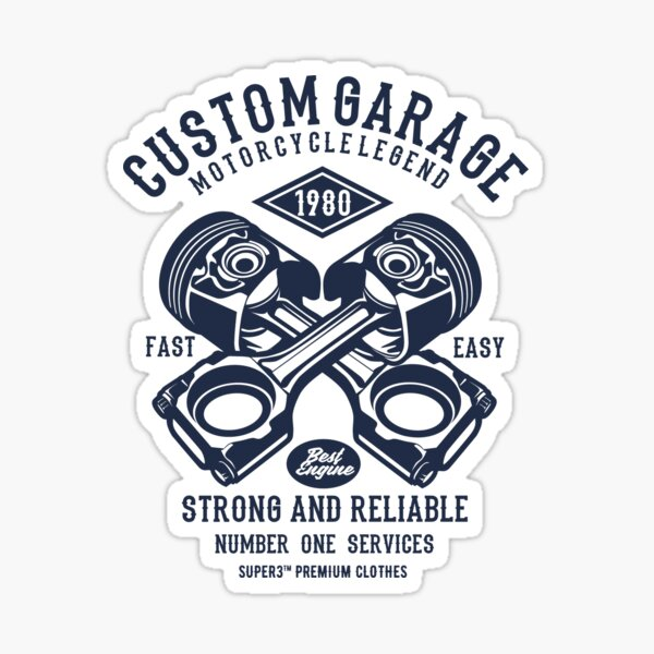 GARAGE MOTOCYCLETTE Sticker