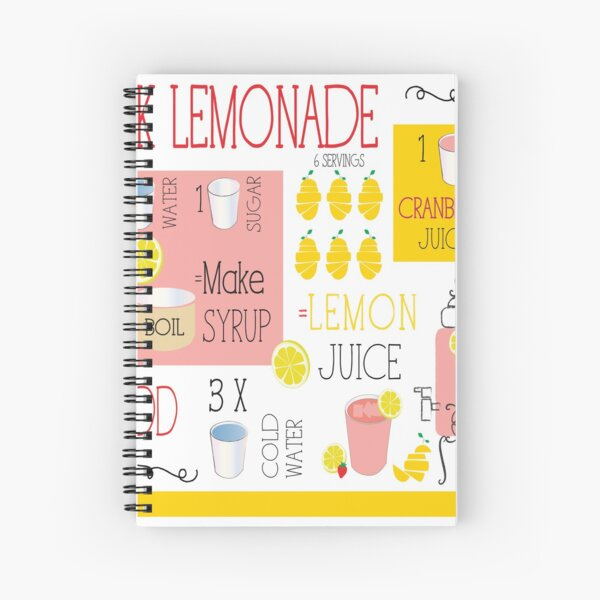 PINK LEMONADE Spiral Notebook