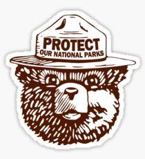 Pegatina Protege nuestros parques