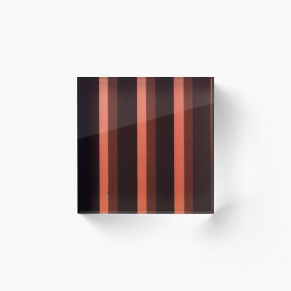 Rusty Shipping Container Panels Acrylic Block