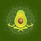 Avocado Meditating Mandala by jitterfly