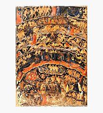 Lámina fotográfica HD Inferno, de Divine Comedy, de Bartolomeo di Fruosino ALTA DEFINICIÓN