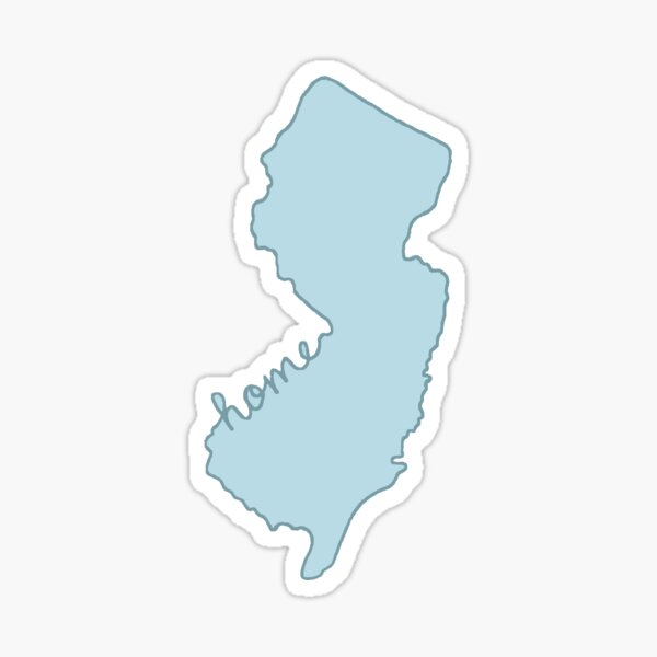 New Jersey Home State Blue Sticker