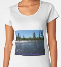 Wonderful Fly Fishing Rivers . Giman . Sweden.. ©Dr.Andrzej Goszcz. June 2018. Women's Premium T-Shirt