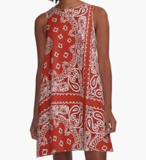 Rotes Bandana A-Linien Kleid
