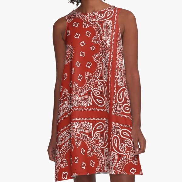 Red Bandana A-Line Dress