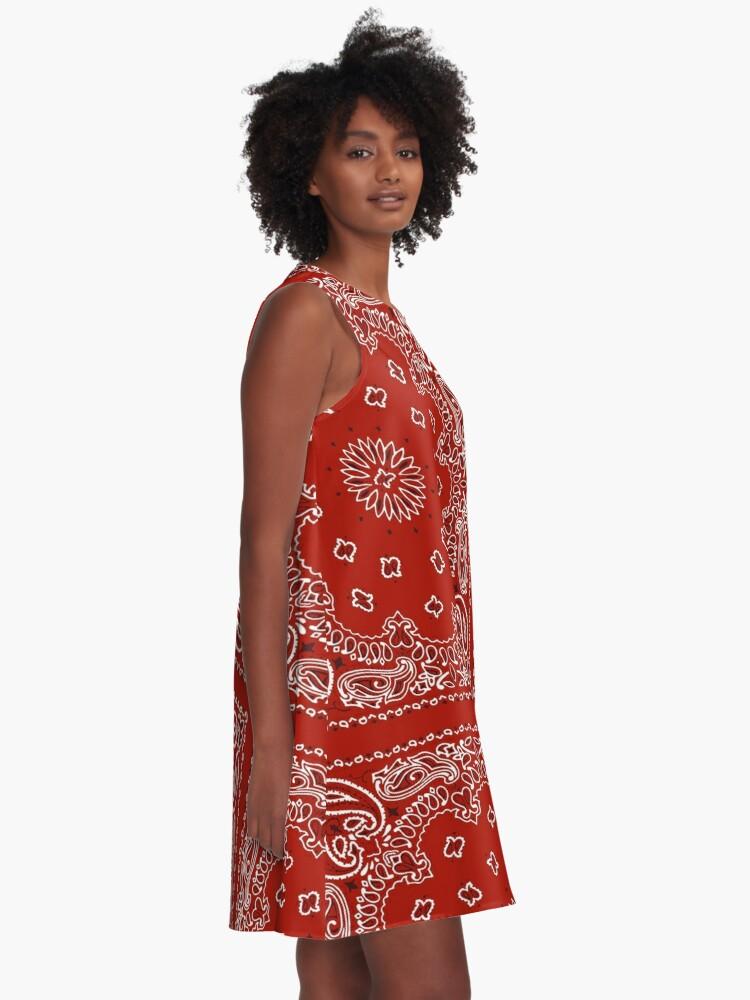 Alternate view of Red Bandana A-Line Dress