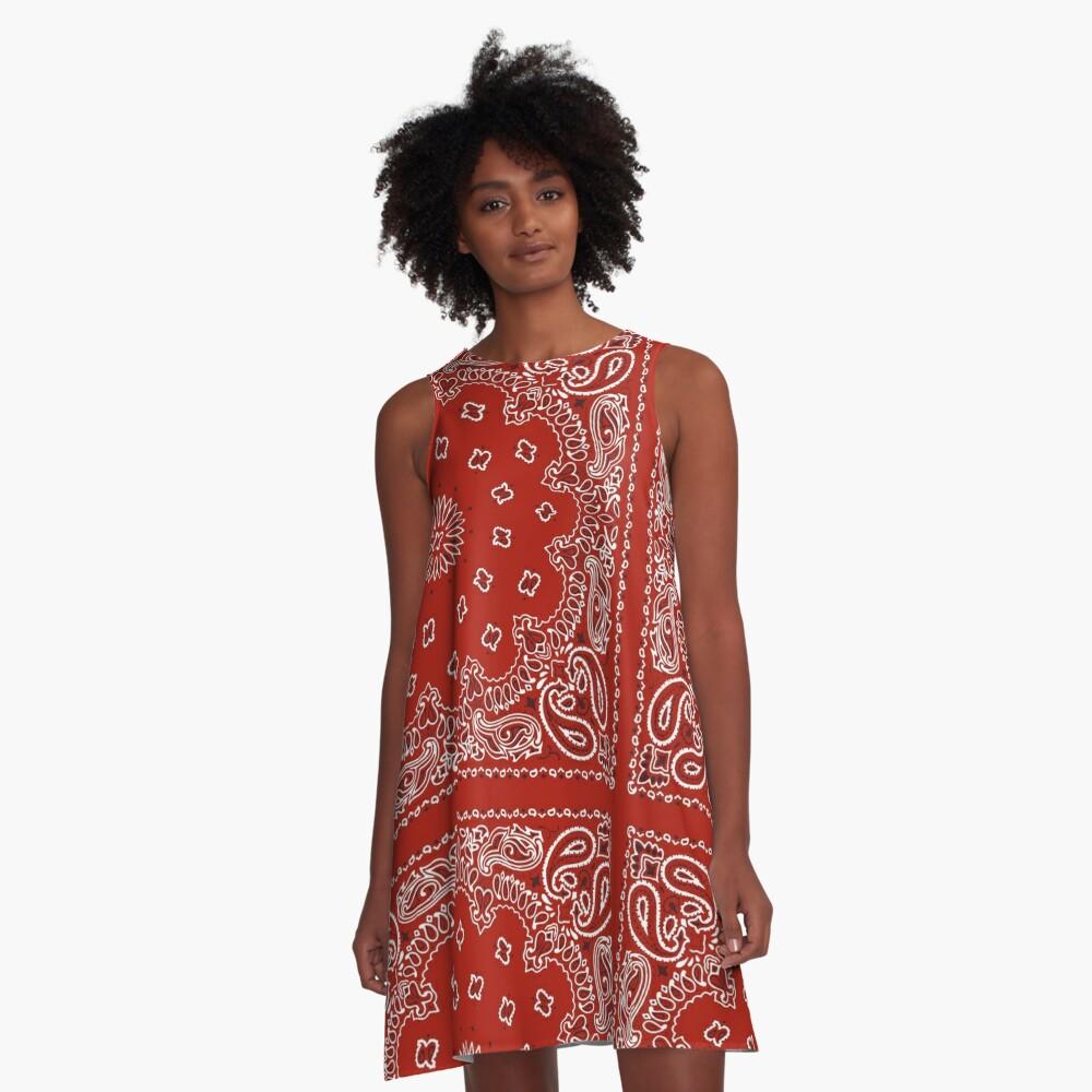 Red Bandana A-Line Dress