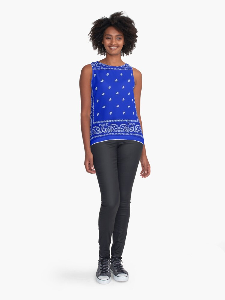 Alternate view of Blue Bandana Sleeveless Top