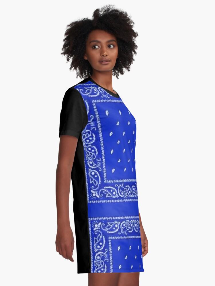 Alternate view of Blue Bandana Graphic T-Shirt Dress