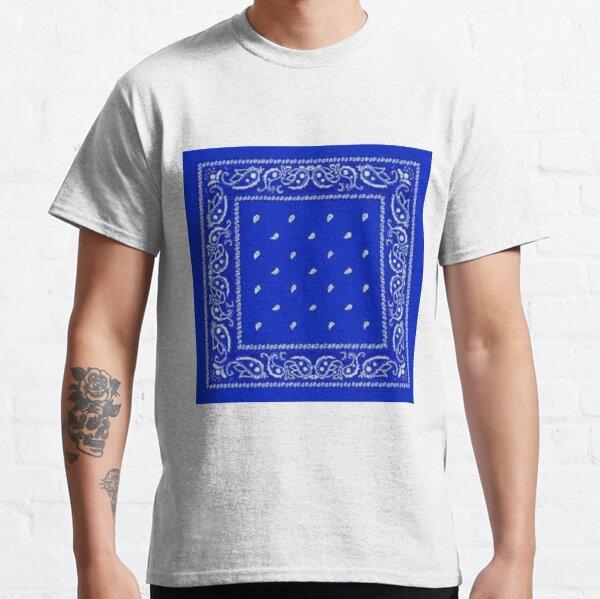 Bandana bleu T-shirt classique