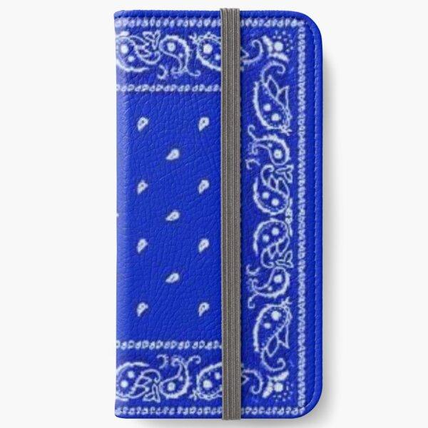 Blue Bandana iPhone Wallet