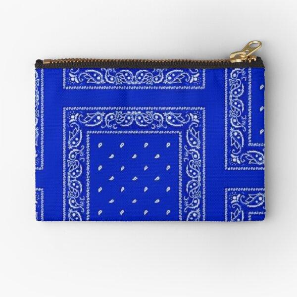 Blue Bandana Zipper Pouch