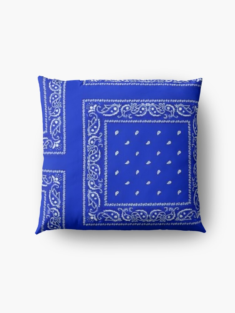 Alternate view of Blue Bandana Floor Pillow