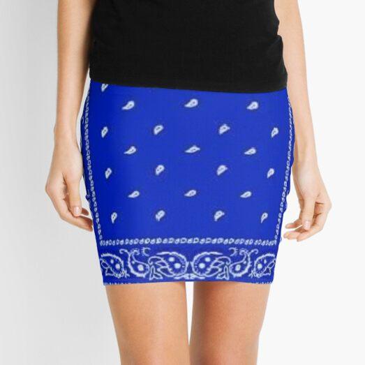Blue Bandana Mini Skirt