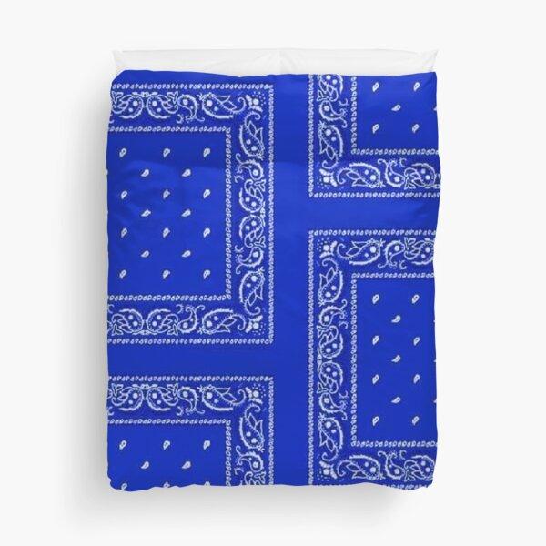Blue Bandana Duvet Cover
