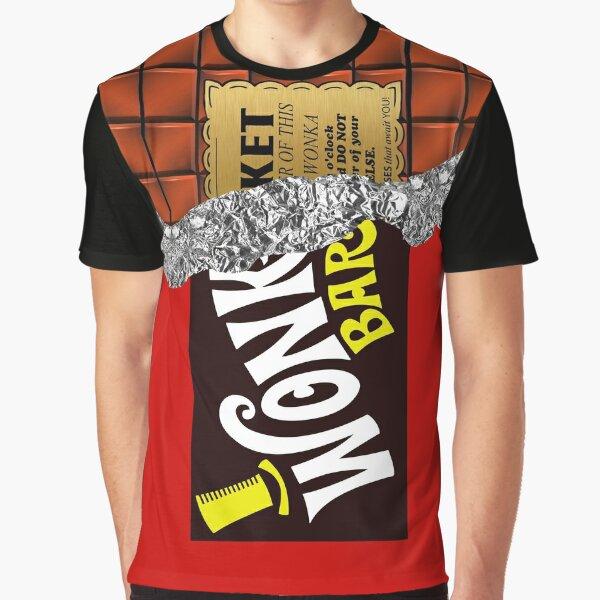 Wonka's Golden Ticket Chocolate Graphic T-Shirt