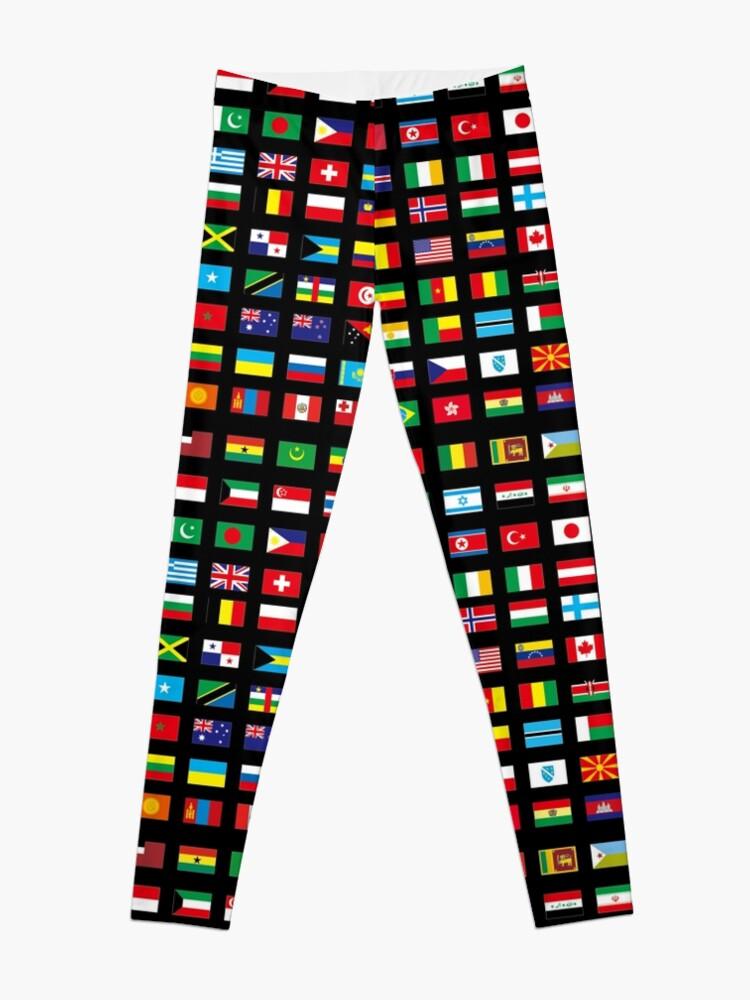 Alternate view of WORLD FLAGS Leggings