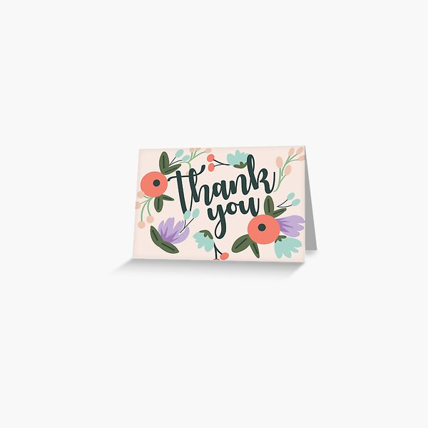 "Floral ""thank you"" card Greeting Card"
