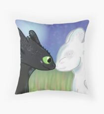 Toothless and the Light Fury Throw Pillow