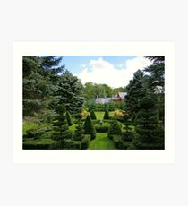 A Rural Formal Garden Art Print