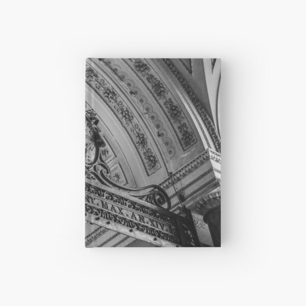 Hallway Outside the Sistine Chapel- Black and White Hardcover Journal