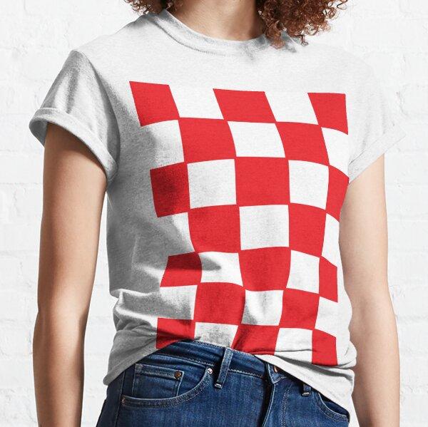 Croatia red chess board Classic T-Shirt