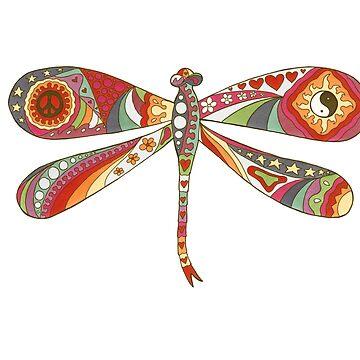Vintage Psychedelic Dragonfly by kelkel66
