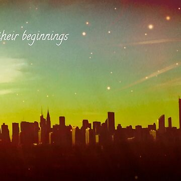 All dreams have their beginnings - NYC Skyline by LeahMcNeir