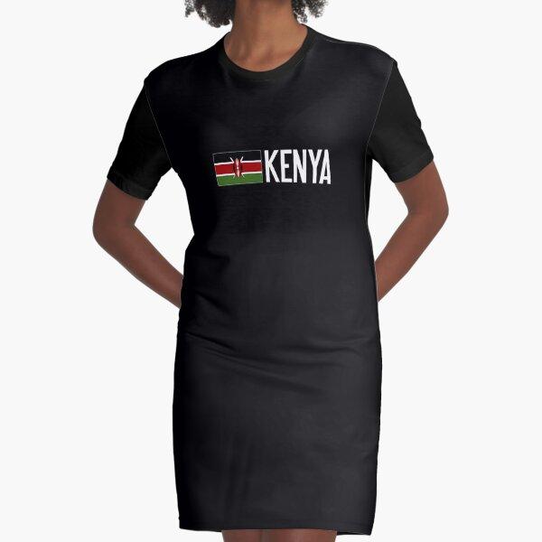 Kenya: Kenyan Flag Graphic T-Shirt Dress