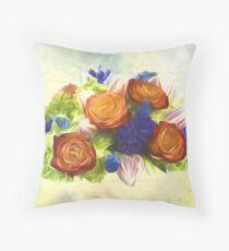 A Beautiful Life - Vintage Flower Art Throw Pillow