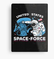 United States Space Force Shirt Metal Print