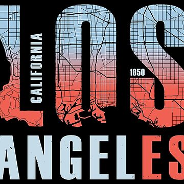Los Angeles California City Of Angels LA 1850 by thespottydogg